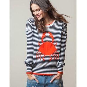 525 America Navy Striped Crab Sweater
